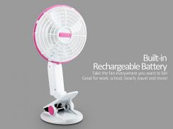 Portable Cool Fan Clip Fan Mini Rechargeable H