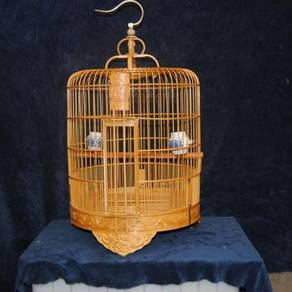 15 inch Dragon Bamboo Bird Cage, Sangkar Burung