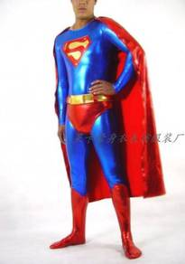 Superman, Supergirl super hero cosplay suit