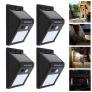 4 set 20 LED Solar PIR Motion Sensor Wall Light