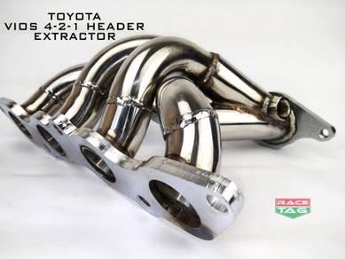 Toyota vios 4-2-1 header extractor exhaust