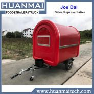Red food trailer truck mobile store