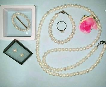 Perhiasan mutiara original borneo