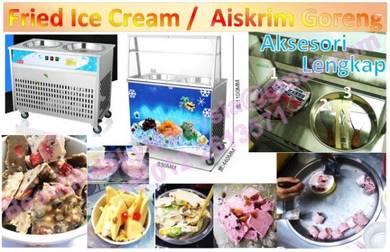 Fried Ice cream Roll Machine Aiskrim Gulung 2019
