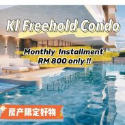 Setapak Freehold Monthly installment RM800 Condo 7unit Per Floor