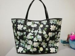 Canvas Flowery Tote Bag