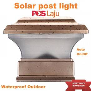 Solar P6 Post Fence Outdoor Powered LEDLight Good