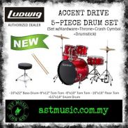 Ludwig Accent Drive Complete Drum Set -Red