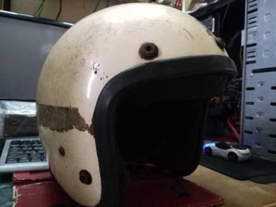 Antik Shoei Malaya Bell Fiberglass Helmet Lama