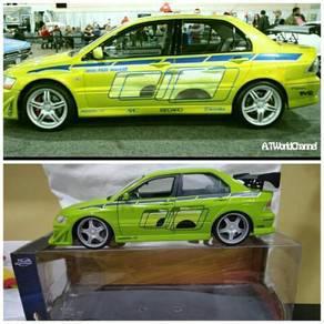 Jada Fast Furious Mitsubishi evo Vll diecast 1:24