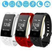 Smartband Fitness Tracker Monitor Bp Heartrate Cal