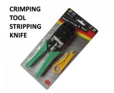Crimping tools stripping knife