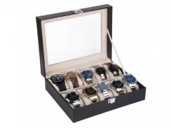 10 Slot PU Leather Kotak Jam Tangan Storage Box