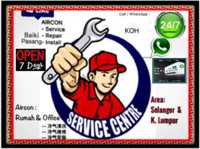 Service Aircond Repair Install Servis Baiki Aircon