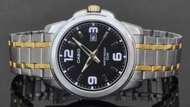 Casio Men Stainless Steel Date Watch MTP-1314SG-1A