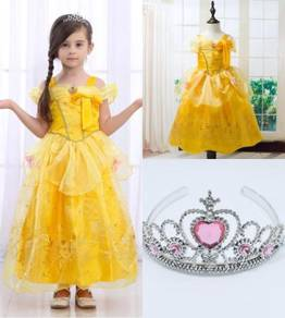 FREE TIARA* Princess Belle Elegance Costume YELLOW