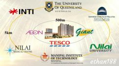 Mix development Condo nearby Universities INTI Manipal KLIA