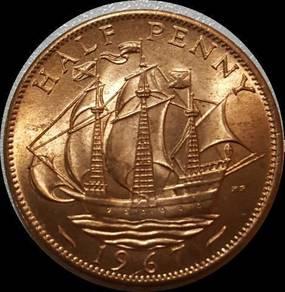Great britian penny 1967