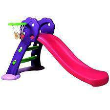2 In 1 Premium Slide With Basketball Net