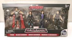 Thor Black Widow Bruce Hawkeye Avengers 4pcs set