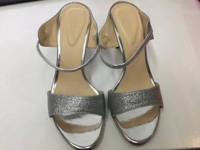 Silver glitter High heel