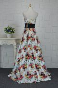 White dinner party prom maxi dress RBP0087