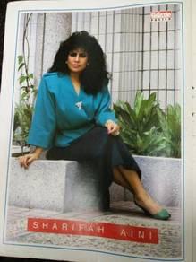 Vintage poster sharifah aini 1986 a3