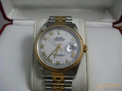 Rolex 16233 White Roman With 90 percent Mint