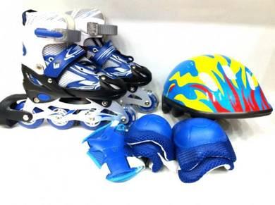 Rollerblade kanak2 adjustable blue design NEW .;][