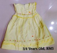 Preloved girl princess dress (yellow)