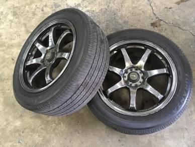 R17 GTR Sports Rim PCD5H 114.3 7.5j