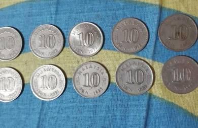 Jual duit lame dr thn 1960-1988