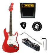 BLW Jumpstart Electric Guitar Package - Red