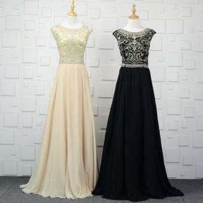 Diamond cream black wedding bridal prom dress gown