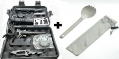 Camping Survival Kit+ Folding Fork Scoop