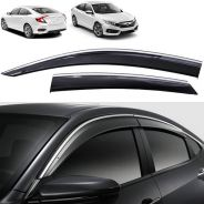 Civic 18Injection Door Visor With Chrome & Clip AG