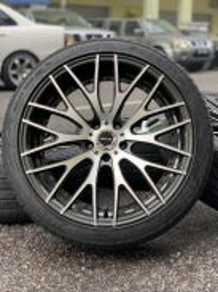 Rays homura 20 inch sports rim vellfire tyre 80%