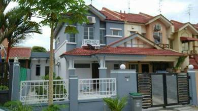 SETIA INDAH, Double Storey END LOT With Land
