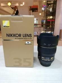 Nikon af-s 35mm f1.4g nano lens (98% new)