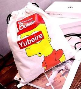 Simpson Street Swag Trend Drawstring Bag (White)