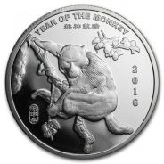 Year of the Monkey 2016 1 oz .999 Silver Round