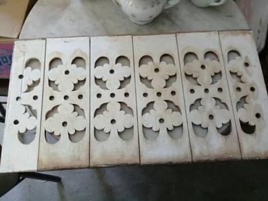 119 Antik papan ukiran tingkap serambi gazebo