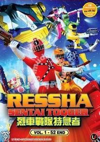 DVD Ressha Sentai ToQger Vol.1-52End