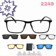 Sunglasses magnetic clip on 6 in 1 2249D