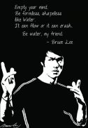 Bruce lee quote poster