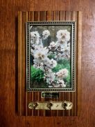 Vintage Key Holder with Flower Painting UK