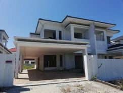 Double Storey Semi Detached House. Miri