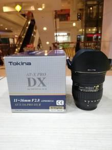 Tokina 11-16mm f2.8 at-x pro dx ii lens-nikon