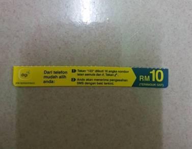 Digi RM10 prepaid reload