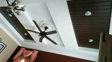Installation plaster ceiling